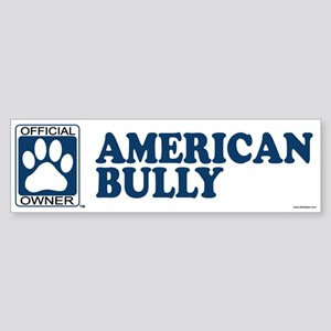 AMERICAN BULLY Bumper Sticker