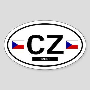 Czech Republic 2F Oval Sticker