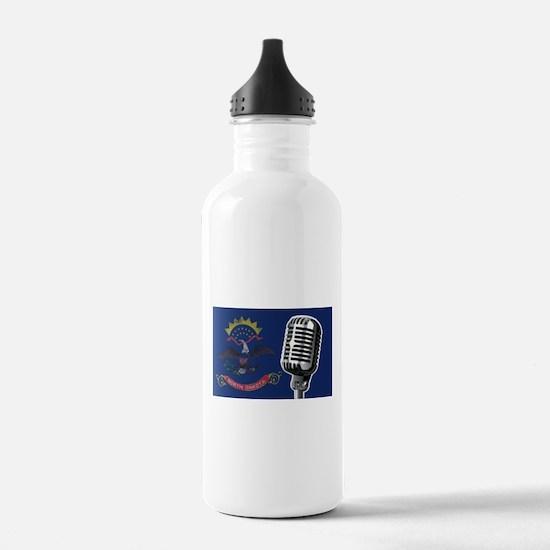 North Dakota Flag And Water Bottle