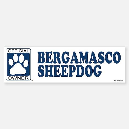 BERGAMASCO SHEEPDOG Bumper Bumper Bumper Sticker
