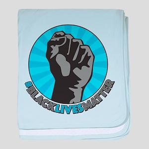 Black Lives Matter Fist baby blanket