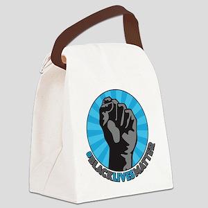 Black Lives Matter Fist Canvas Lunch Bag