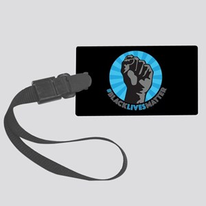 Black Lives Matter Fist Large Luggage Tag