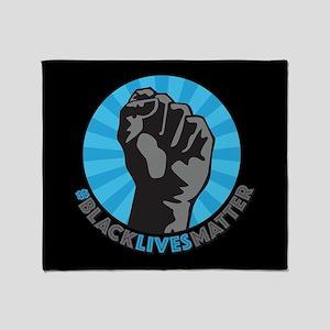 Black Lives Matter Fist Throw Blanket