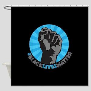 Black Lives Matter Fist Shower Curtain