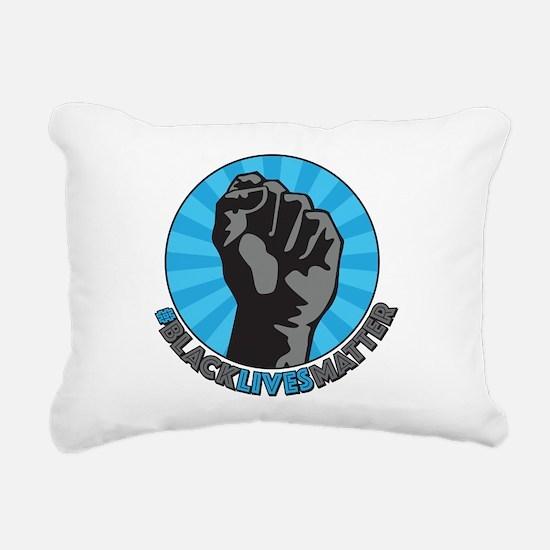 Black Lives Matter Fist Rectangular Canvas Pillow