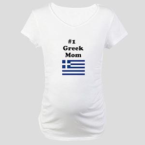 #1 Greek Mom Maternity T-Shirt