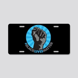 Black Lives Matter Fist Aluminum License Plate