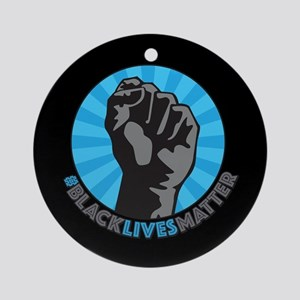 Black Lives Matter Fist Round Ornament
