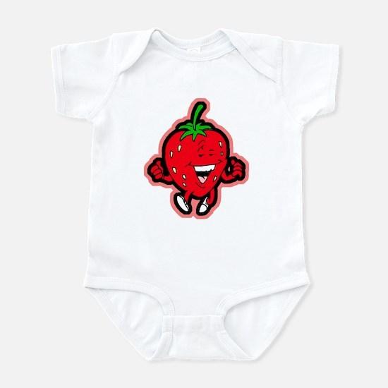 Dancing Strawberry Infant Bodysuit