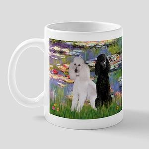 Lilies / 2 Poodles(b&w) Mug
