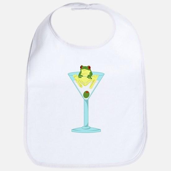 Frog Martini Baby Bib