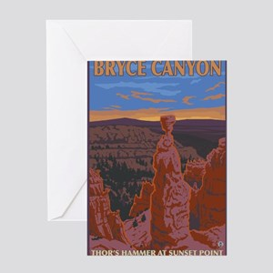 Bryce Canyon, Utah - Thor's Hammer Greeting Cards