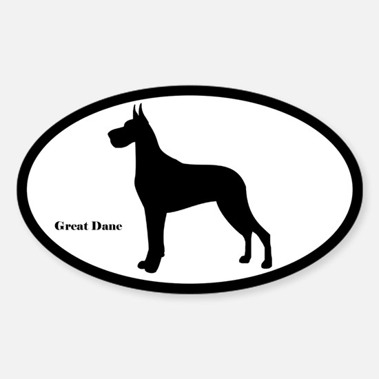Great Dane Silhouette Decal