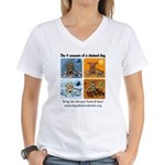 4 Seasons of Chained Dog Women's V-Neck T-Shirt
