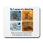 4 Seasons of Chained Dog Mousepad