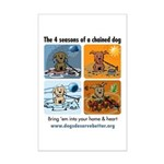 4 Seasons of Chained Dog Mini Poster Print