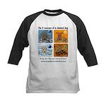 4 Seasons of Chained Dog Kids Baseball Jersey