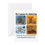 4 Seasons of Chained Dog Greeting Cards (Pk of 10)