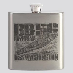 Battleship Washington Flask