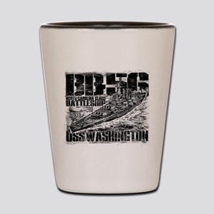 Battleship Washington Shot Glass