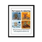 4 Seasons of Chained Dog Framed Panel Print