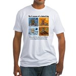 4 Seasons of Chained Dog Fitted T-Shirt