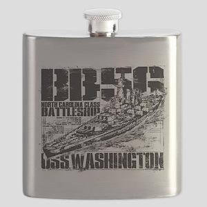 Battleship Washington Flask