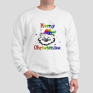 Merry Christmas GLBT Santa Sweatshirt