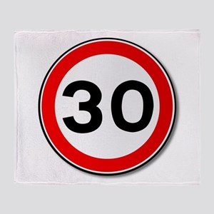 30 MPH Limit Traffic Sign Throw Blanket