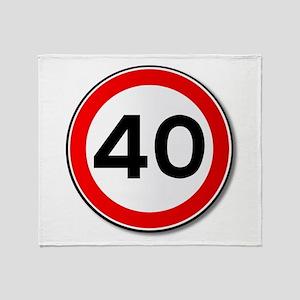 40 MPH Limit Traffic Sign Throw Blanket