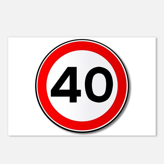 40 MPH Limit Traffic Sign Postcards (Package of 8)