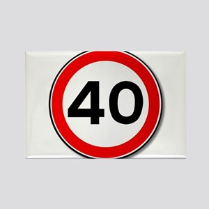 40 MPH Limit Traffic Sign Magnets