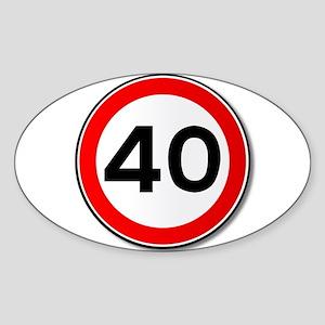 40 MPH Limit Traffic Sign Sticker