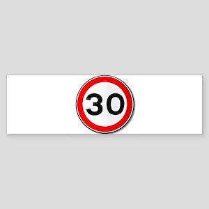 30 MPH Limit Traffic Sign Bumper Sticker