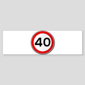 40 MPH Limit Traffic Sign Bumper Sticker