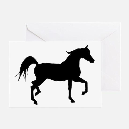 Arabian Horse Silhouette Greeting Card