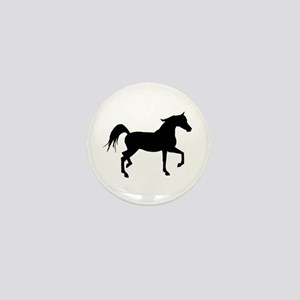 Arabian Horse Silhouette Mini Button
