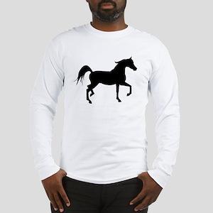 Arabian Horse Silhouette Long Sleeve T-Shirt