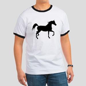 Arabian Horse Silhouette Ringer T