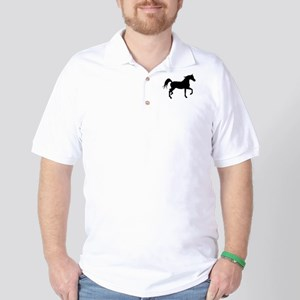 Arabian Horse Silhouette Golf Shirt