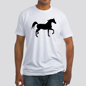 Arabian Horse Silhouette Fitted T-Shirt