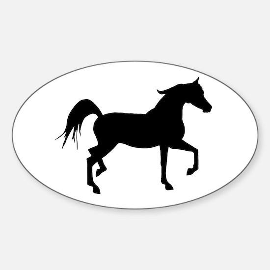 Arabian Horse Silhouette Sticker (Oval)