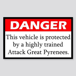 Attack Great Pyrenees Sticker