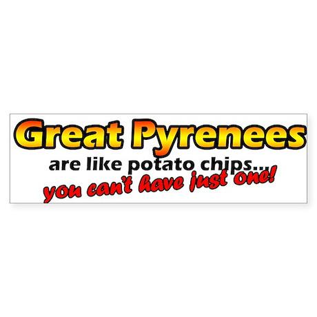 Potato Chips Great Pyrenees Bumper Sticker