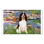 Lilies / Eng Spring Sticker (Rectangle)