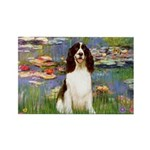 Lilies / Eng Spring Rectangle Magnet (10 pack)