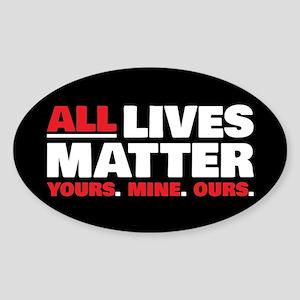 All Lives Matter Sticker (Oval)