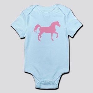Pink Arabian Horse Infant Bodysuit