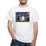 Starry Night / Eng Spring White T-Shirt